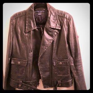 Ralph Lauren Distressed Leather Jacket